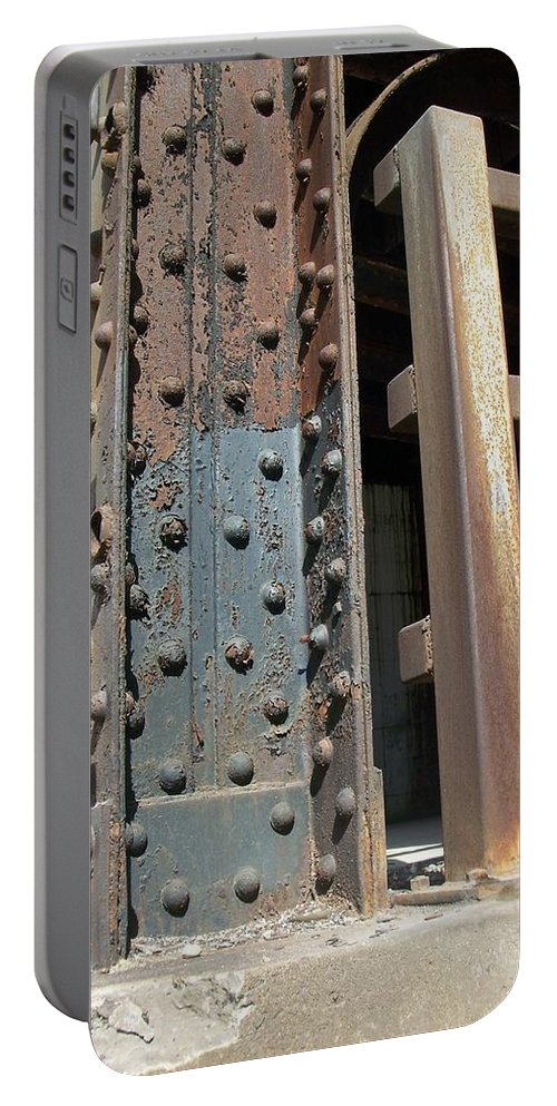 Urban Portable Battery Charger featuring the photograph Abstract Rust 1 by Anita Burgermeister