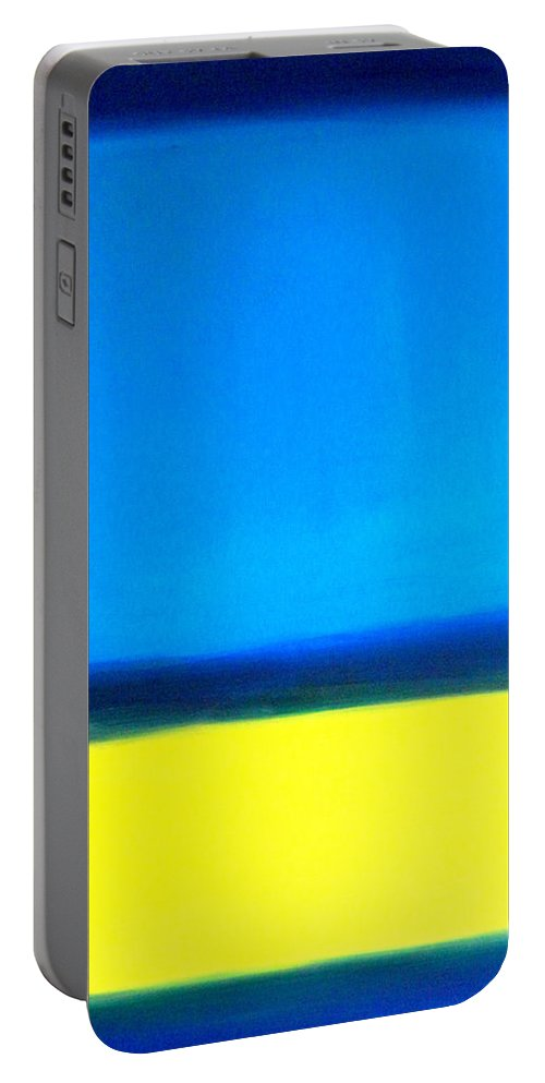 Rothko Portable Battery Charger featuring the painting Abstract Seascape Color Field by Katy Hawk