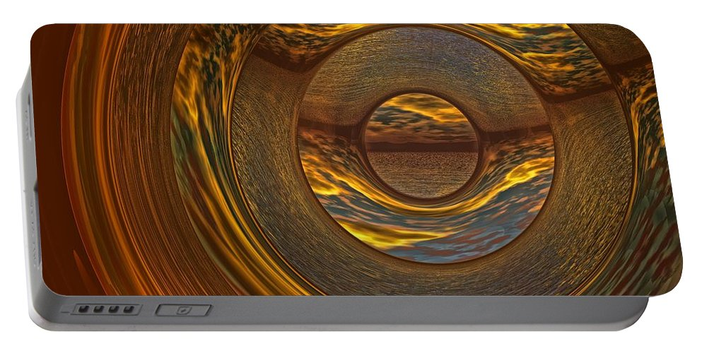 Bryce Portable Battery Charger featuring the digital art Abstract Sunset by Lyle Hatch