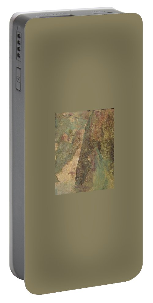 Abstract Portable Battery Charger featuring the mixed media Abstract Three by Pat Snook