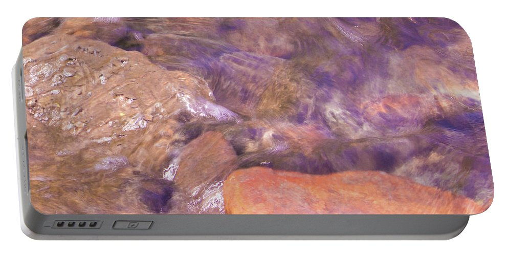 Water Portable Battery Charger featuring the photograph Abstract Water Art II by Lori Lynn Sadelack