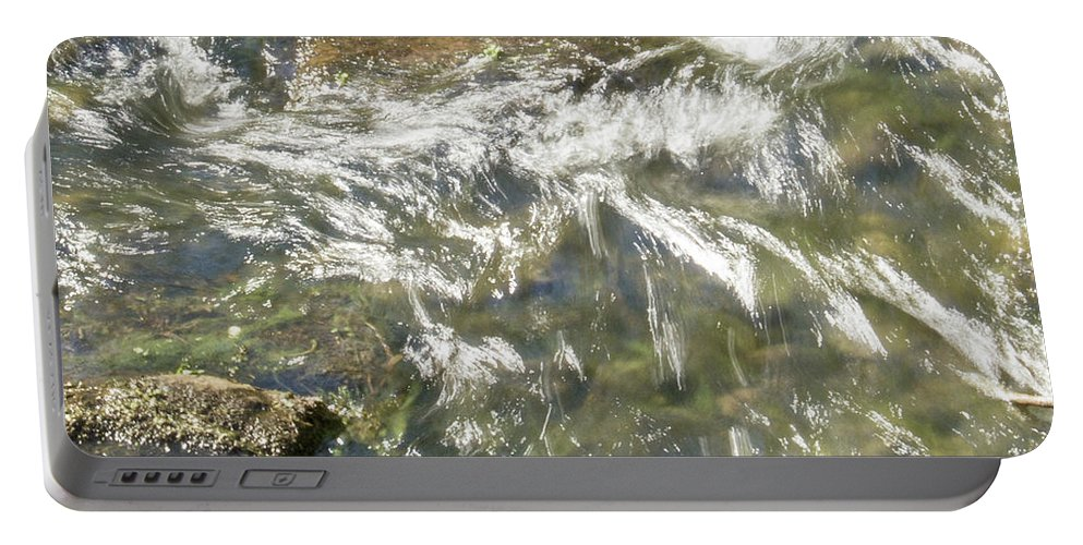 Water Portable Battery Charger featuring the photograph Abstract Water Art Vi by Lori Lynn Sadelack