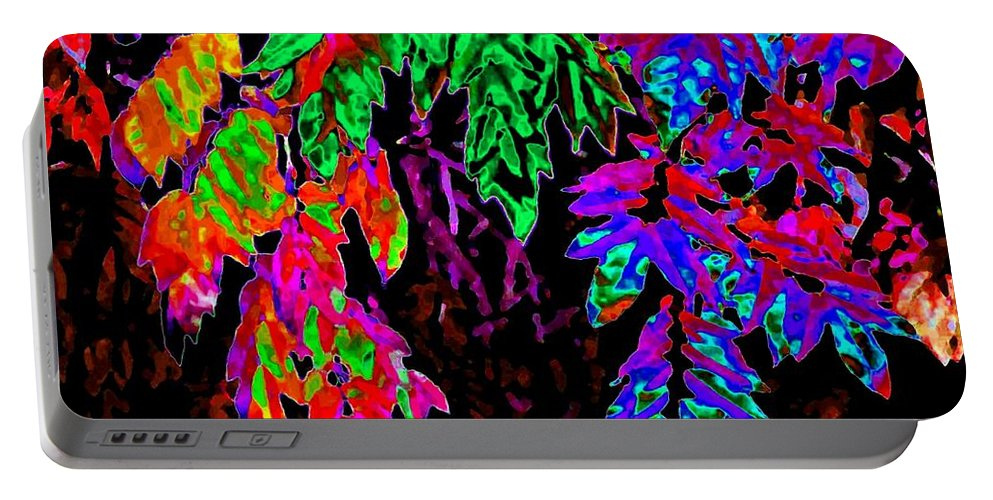 Abstract Portable Battery Charger featuring the digital art Abstract Wisteria by Will Borden