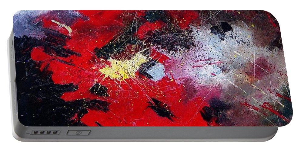 Abstract Portable Battery Charger featuring the painting Abstract070406 by Pol Ledent
