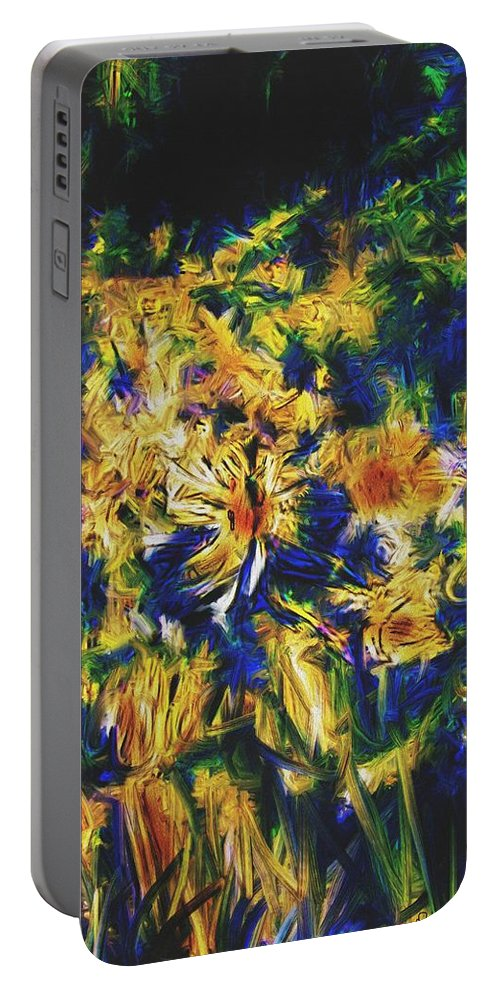 Abstract Digital Painting Portable Battery Charger featuring the digital art Abstract11-06-09 by David Lane