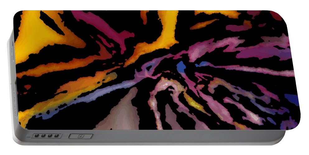 Abstract Portable Battery Charger featuring the digital art Abstract309g by David Lane