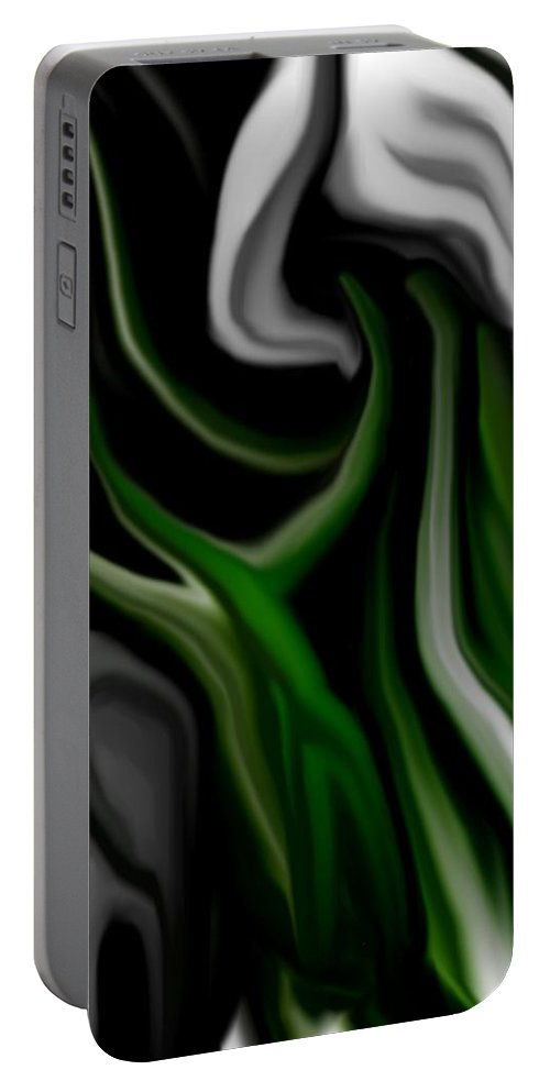 Abstract Portable Battery Charger featuring the digital art Abstract309h by David Lane
