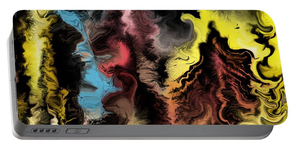 Abstract Portable Battery Charger featuring the digital art Abstract309i by David Lane