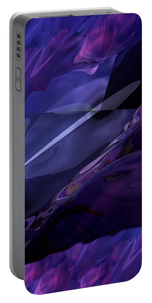 Abstract Portable Battery Charger featuring the digital art Abstractbr6-1 by David Lane