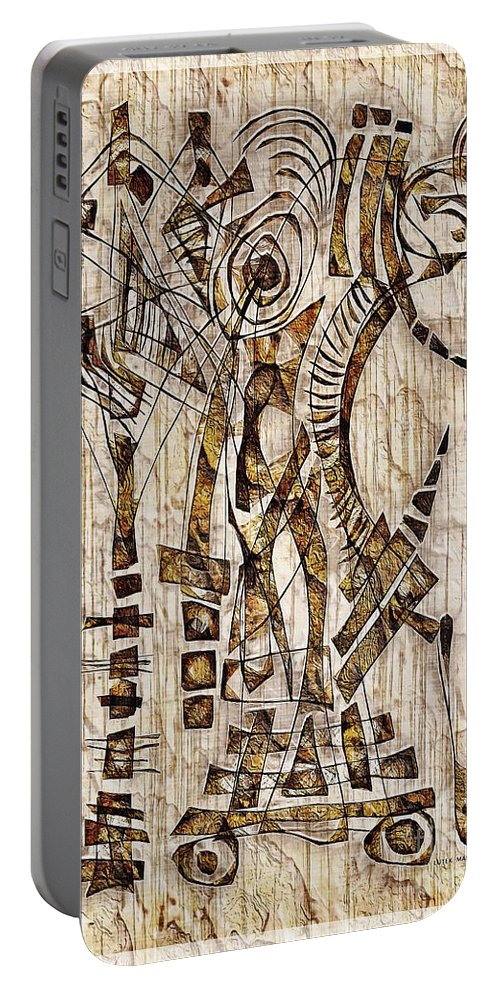 Abstraction Portable Battery Charger featuring the digital art Abstraction 2568 by Marek Lutek