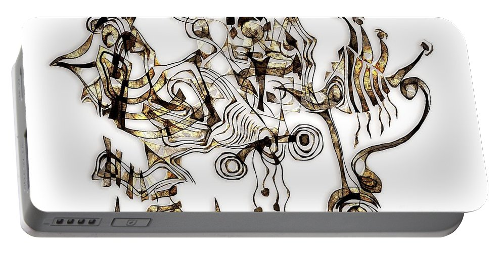 Abstraction Portable Battery Charger featuring the digital art Abstraction 2865 by Marek Lutek