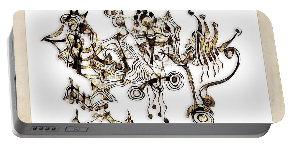 Abstraction Portable Battery Charger featuring the digital art Abstraction 2869 by Marek Lutek