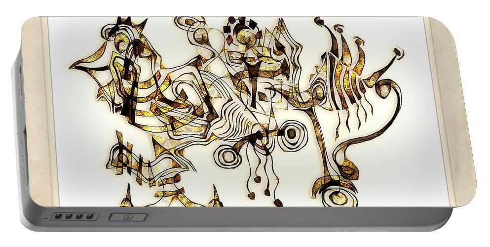 Abstraction Portable Battery Charger featuring the digital art Abstraction 2872 by Marek Lutek