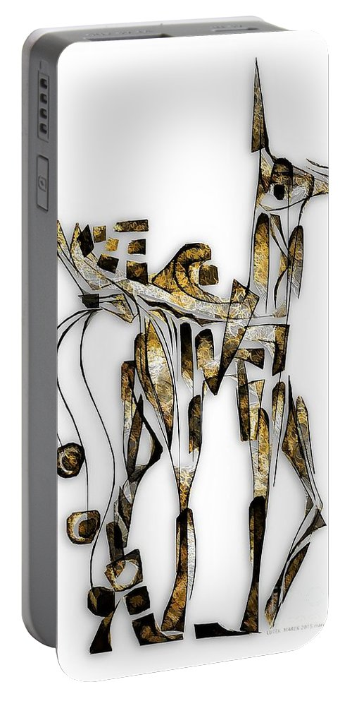 Abstraction Portable Battery Charger featuring the digital art Abstraction 3089 by Marek Lutek