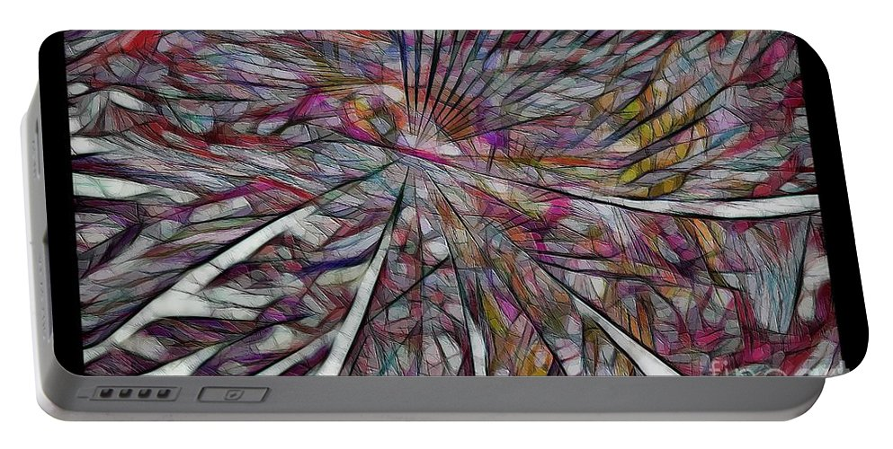 Abstraction Portable Battery Charger featuring the digital art Abstraction 3097 by Marek Lutek