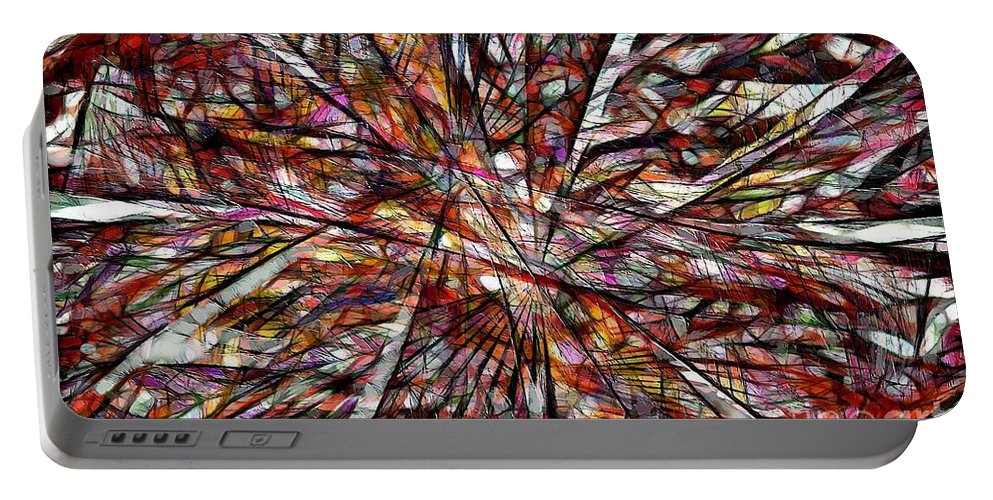 Abstraction Portable Battery Charger featuring the digital art Abstraction 3098 by Marek Lutek