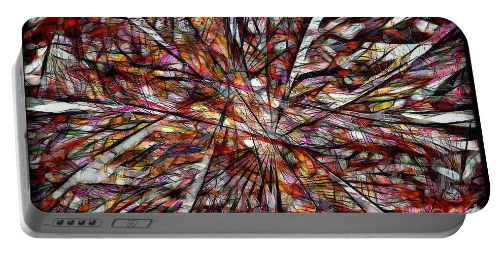 Abstraction Portable Battery Charger featuring the digital art Abstraction 3100 by Marek Lutek