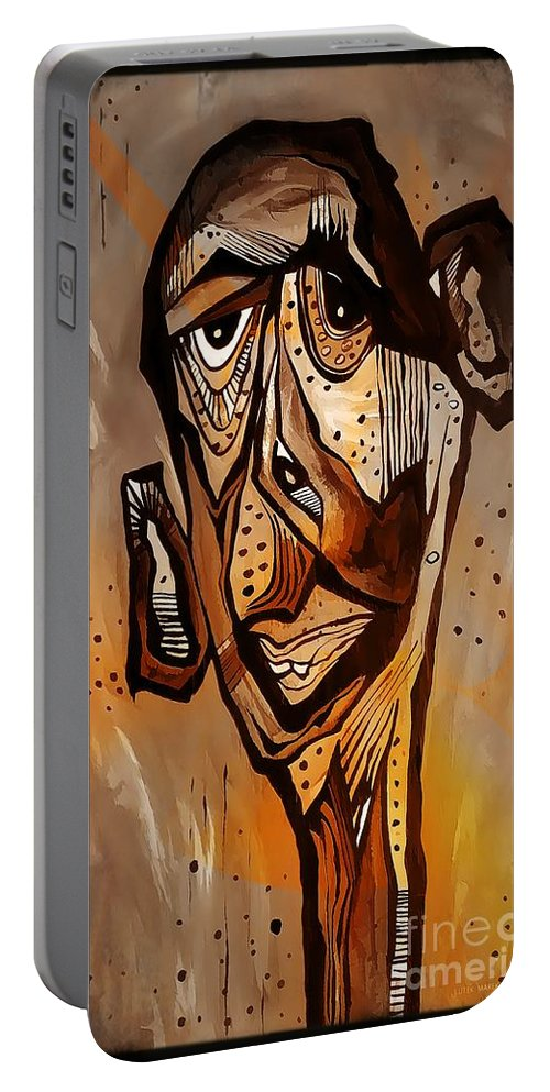 Abstraction Portable Battery Charger featuring the digital art Abstraction 3299 by Marek Lutek