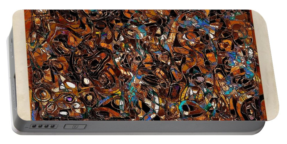 Abstraction Portable Battery Charger featuring the digital art Abstraction 3377 by Marek Lutek