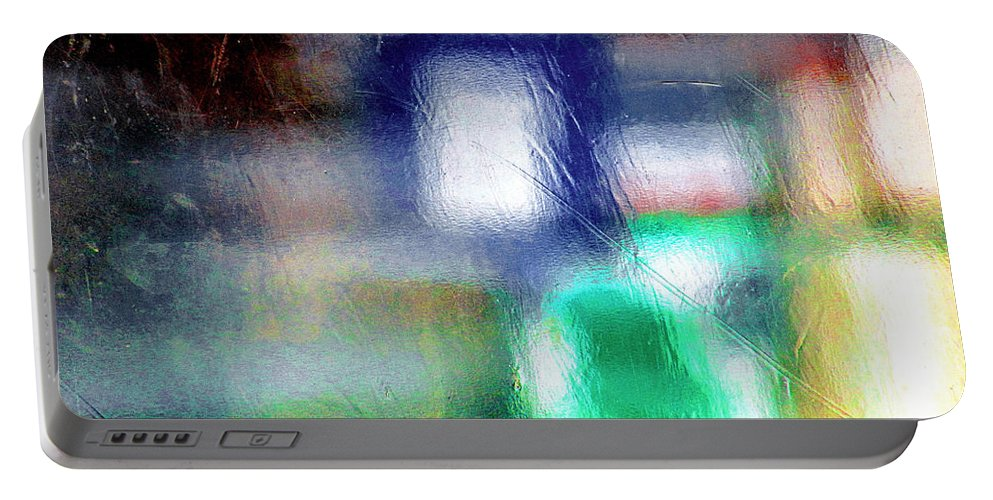 Green Portable Battery Charger featuring the photograph Abstraction by Prakash Ghai