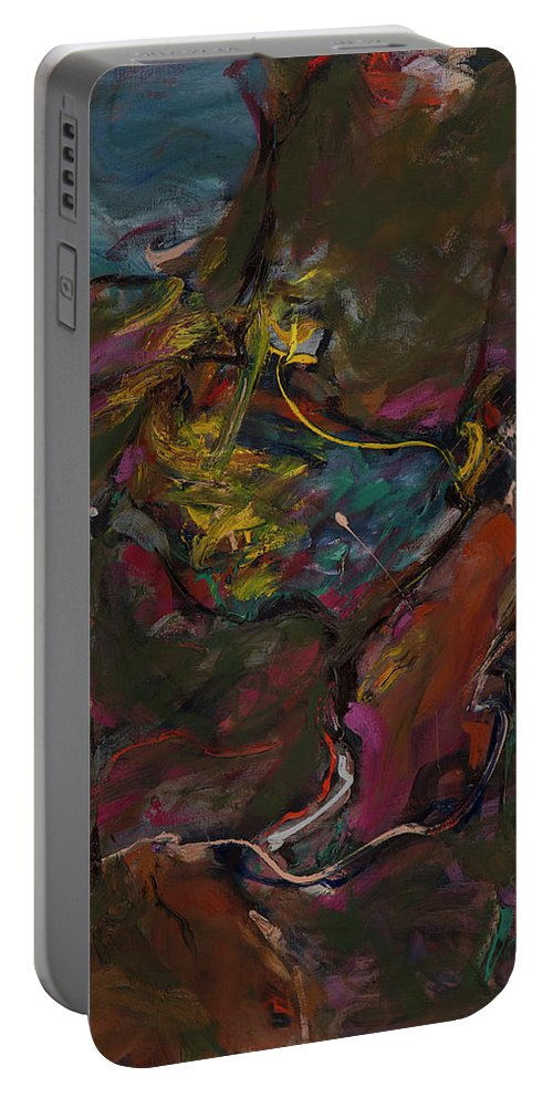 Abstract Portable Battery Charger featuring the painting Abstraction#1 by Andrei Karpovich
