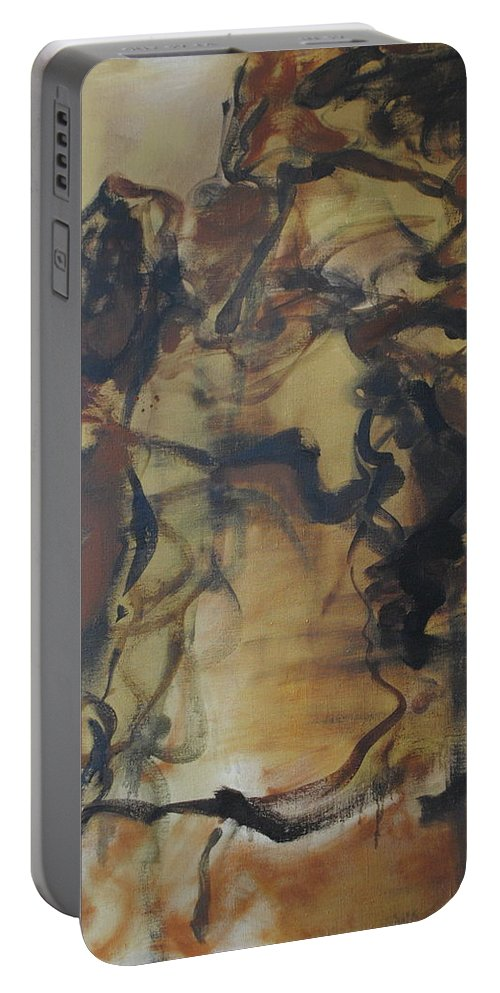 Abstract Portable Battery Charger featuring the painting Abstraction#3 by Andrei Karpovich