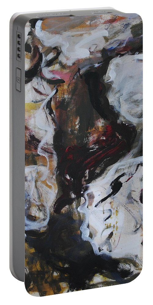 Abstract Portable Battery Charger featuring the painting Abstraction#6 by Andrei Karpovich