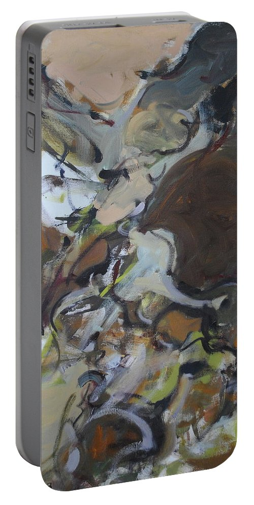 Abstract Portable Battery Charger featuring the painting Abstraction#7 by Andrei Karpovich