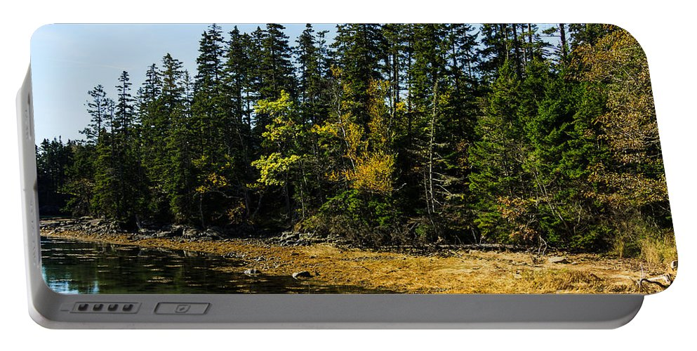 Acadia Portable Battery Charger featuring the photograph Acadia Cove by Terri Morris