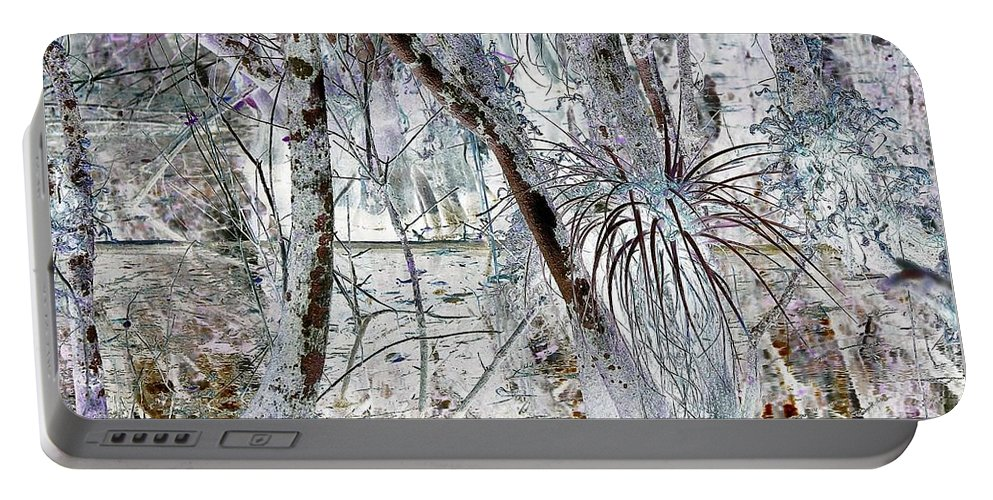 Swamp Portable Battery Charger featuring the digital art Accentuating The Negative by John Hintz