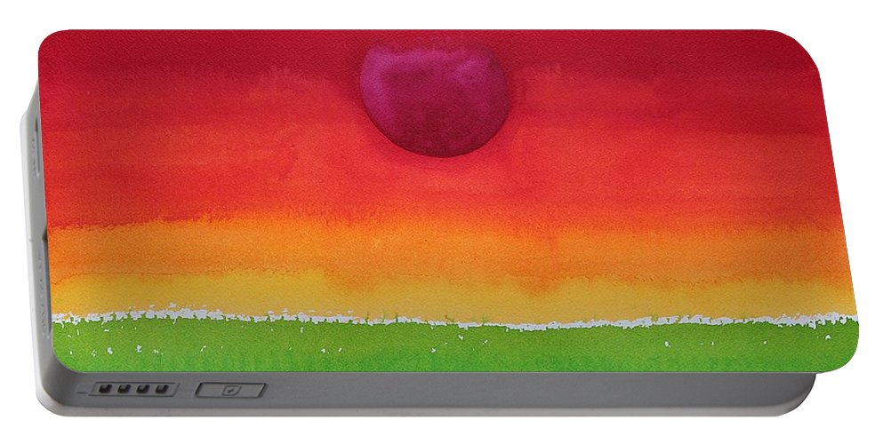 Sun Portable Battery Charger featuring the painting Acceptance Original Painting by Sol Luckman