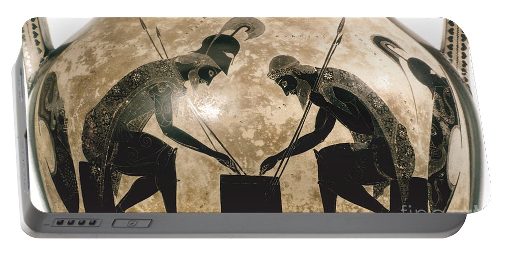 540 B.c Portable Battery Charger featuring the photograph Achilles & Ajax, C540 B.c by Granger