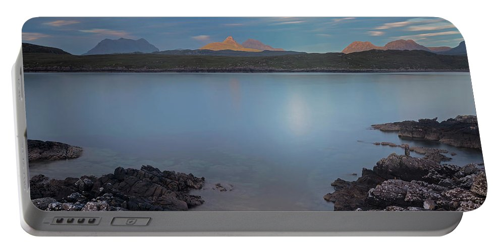 Achnahaird Bay Portable Battery Charger featuring the photograph Achnahaird Bay And Assynt Mountains by Derek Beattie