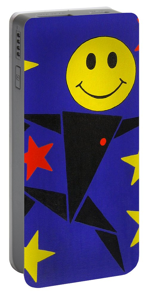 Surreal Portable Battery Charger featuring the painting Acid Jazz by Oliver Johnston