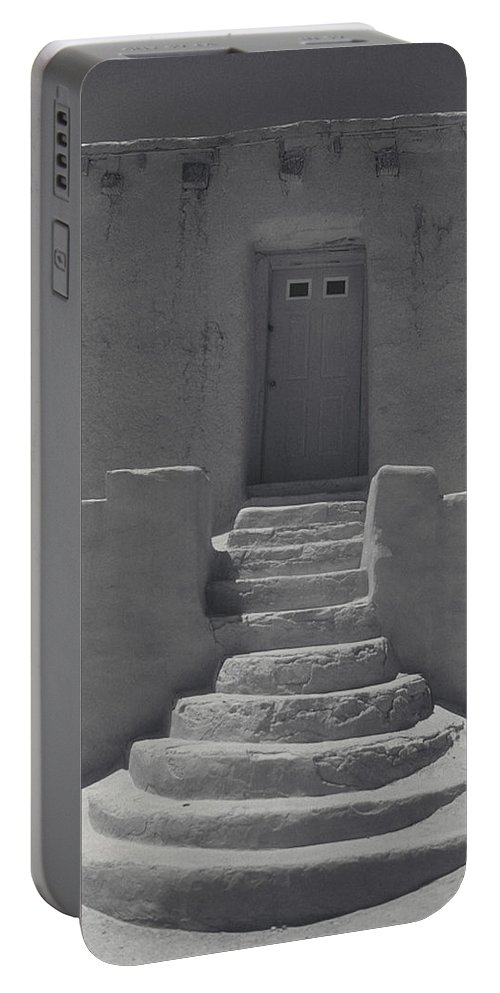 Acoma Portable Battery Charger featuring the photograph Acoma Steps by Jerry McElroy