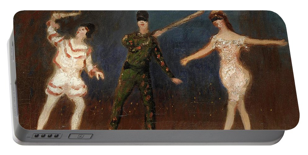 Spencer Frederick Gore Portable Battery Charger featuring the painting Acrobats by Spencer Frederick Gore