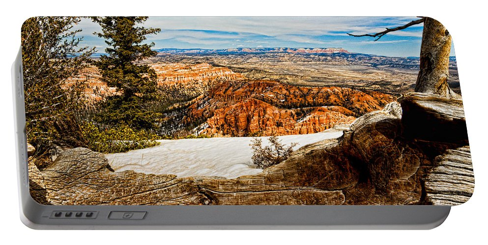 Art Portable Battery Charger featuring the photograph Across The Canyon by Christopher Holmes