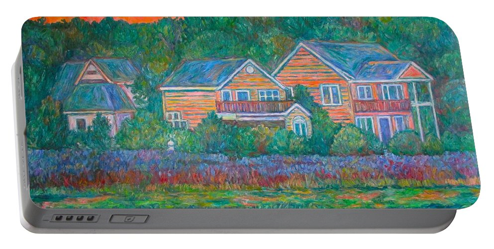 Landscape Portable Battery Charger featuring the painting Across The Marsh At Pawleys Island    by Kendall Kessler