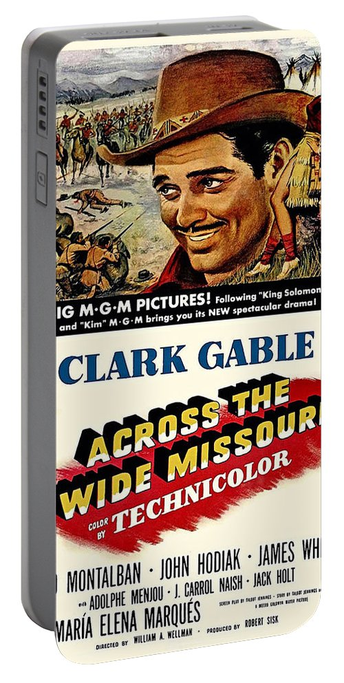 Across The Wide Missouri Portable Battery Charger featuring the photograph Across The Wide Missouri by Movie Poster Prints