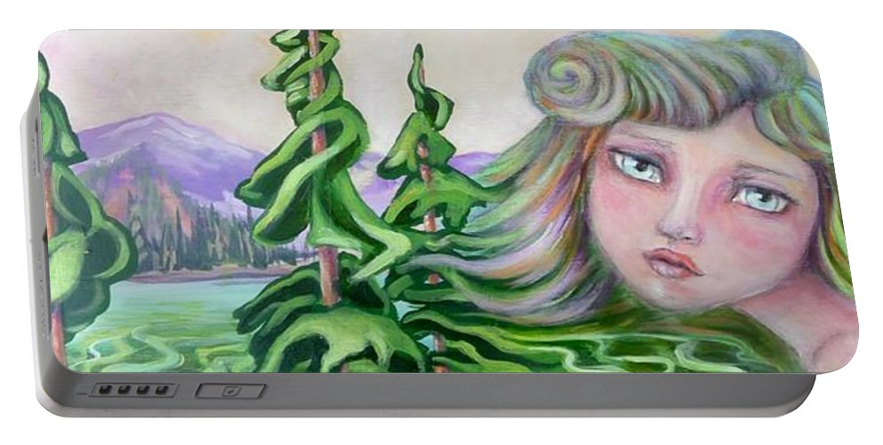 Landscape Painting Portable Battery Charger featuring the painting Acts Of Creation by Tammy Watt