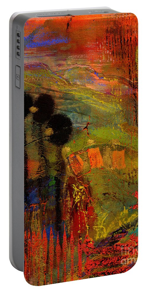 Gretting Cards Portable Battery Charger featuring the mixed media Admiring God's Handiwork I by Angela L Walker