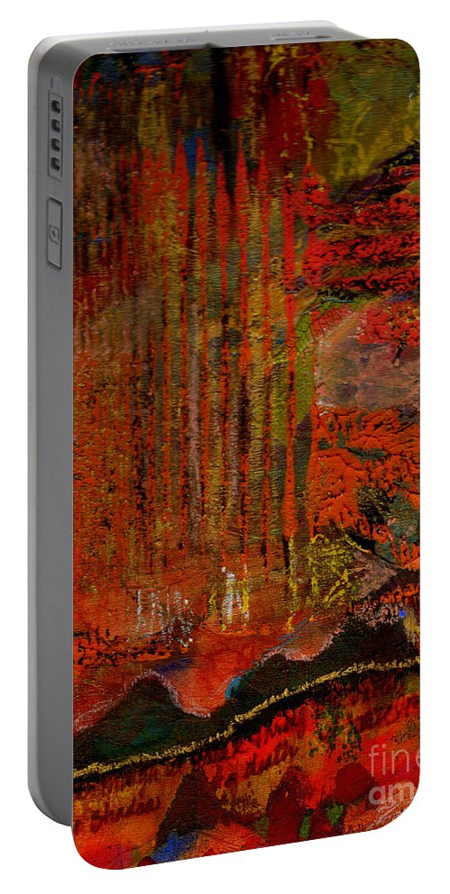Greeting Cards Portable Battery Charger featuring the mixed media Admiring God's Handiwork IIi by Angela L Walker