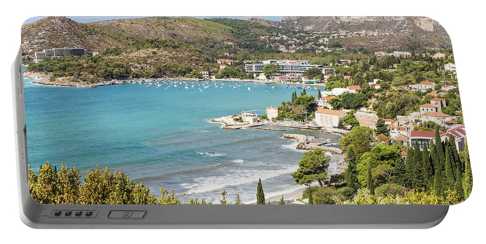 Coastline Portable Battery Charger featuring the photograph Adriatic Coast In Croatia by Didier Marti