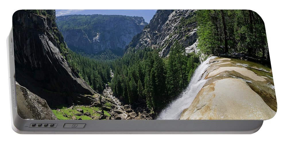 Nps Portable Battery Charger featuring the photograph Aerial View From The Top Of The Upper Yosemite Fall by Chon Kit Leong