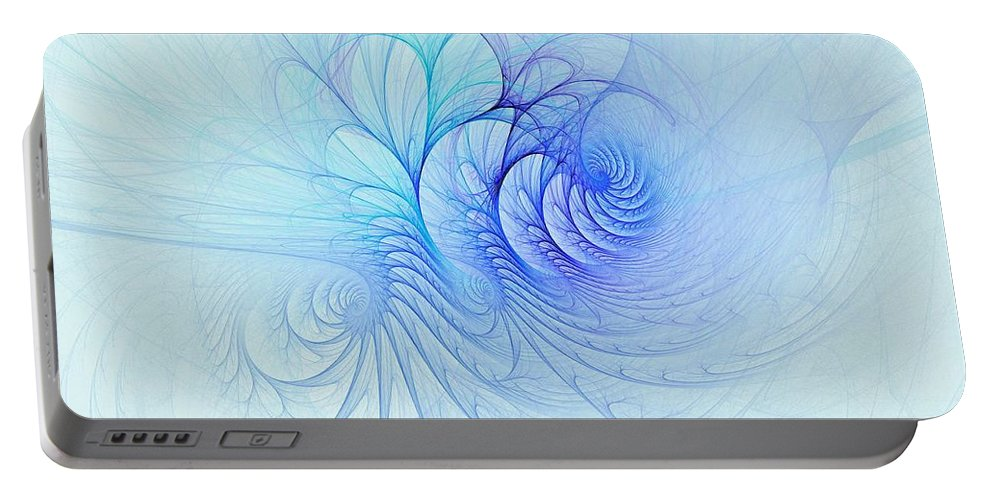Portable Battery Charger featuring the digital art Aerophilicity by Doug Morgan
