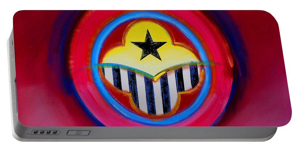 Button Portable Battery Charger featuring the painting African American by Charles Stuart