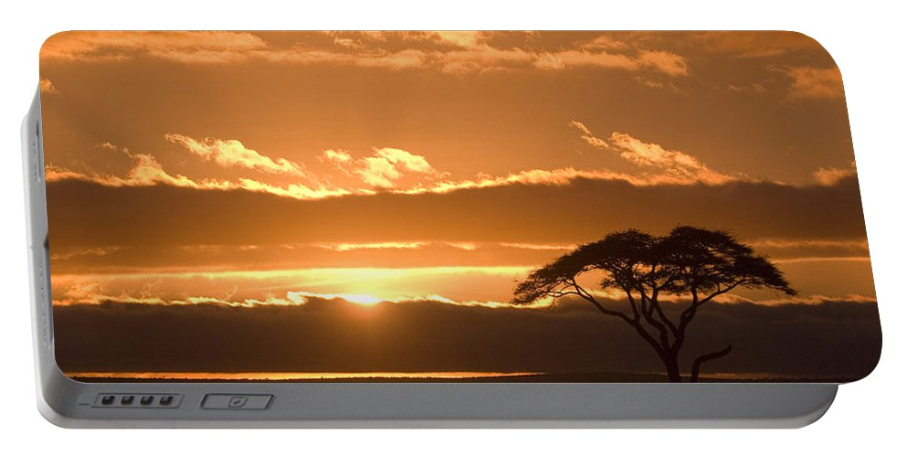 Africa Portable Battery Charger featuring the photograph African Sunrise by Michele Burgess