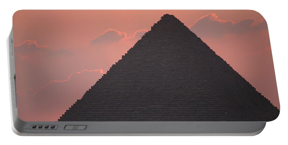 Pyramid Portable Battery Charger featuring the photograph After Sundown by Donna Corless
