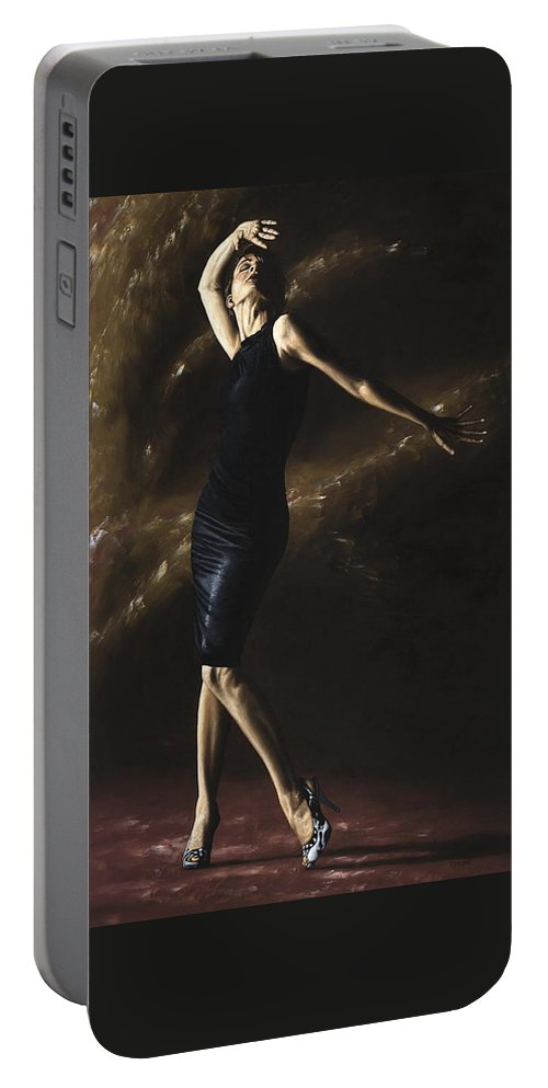 Dance Portable Battery Charger featuring the painting After the Dance by Richard Young