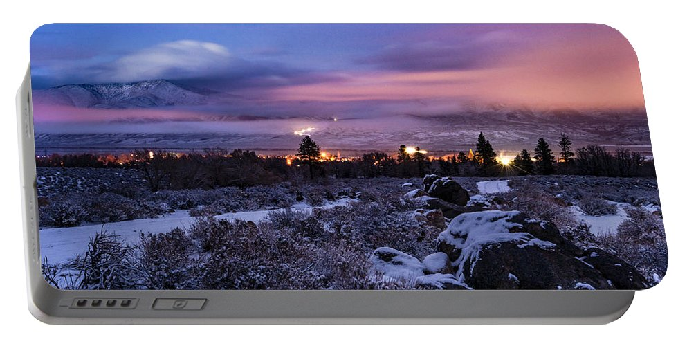 California Portable Battery Charger featuring the photograph After The Snow Storm by Cat Connor